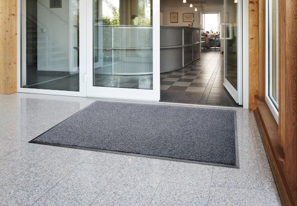 Morland Access Duo in front of entrance doors