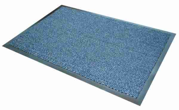Morland Elemental Blue PVC Industrial Doormat on a white background