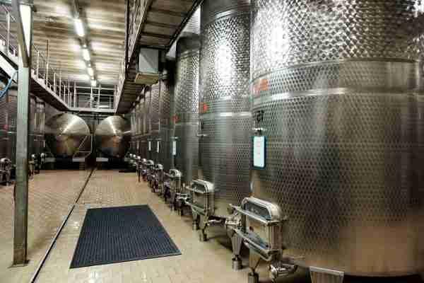Morland Access Aqua doormat in an industrial food preparation