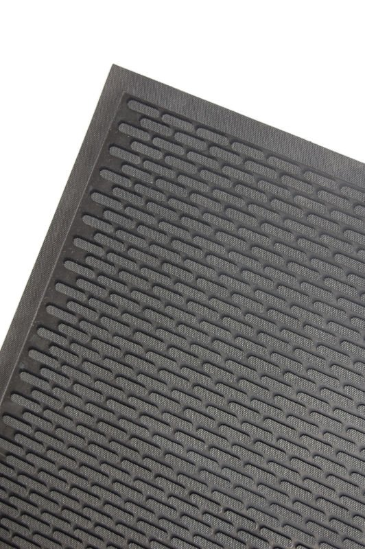 Close up of corner of Access Approach Industrial Rubber door mat
