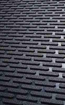 Close up of Access Approach Industrial Rubber door mat