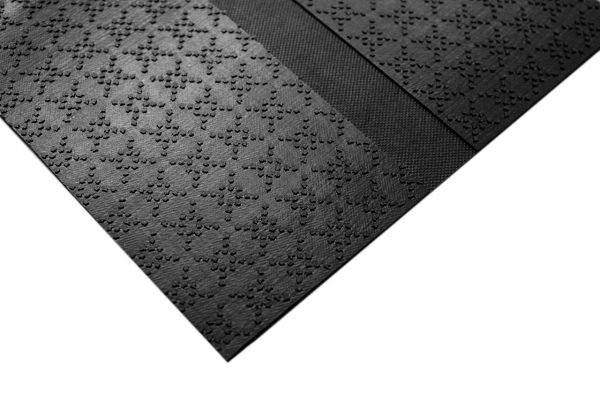 Multigrip backing on Morland cable protect industrial rubber safety mats