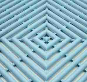 a close up of Morland Aqua Step Changing room matting in colour pastel blue