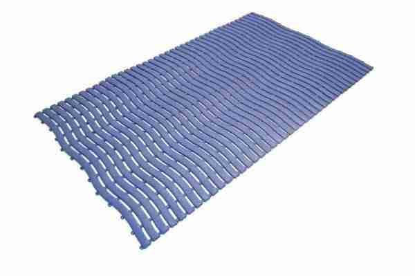 a single tile of tile of Morland Aqua Step Wave Pool Matting in colour dark blue