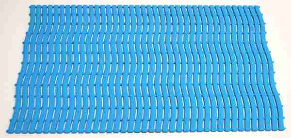 A single tile of Morland Aqua Step Wave pool matting in colour pastel Blue on a white background
