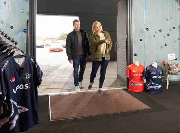 Portifera Access Duo at a sports store entrance